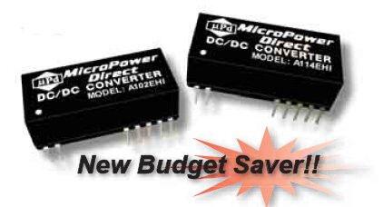 A102EHI   DC/DC   Ein: 5 V DC   Aus: 9 V DC   MicroPower Direct